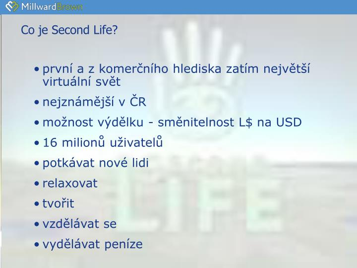 Co je Second Life?