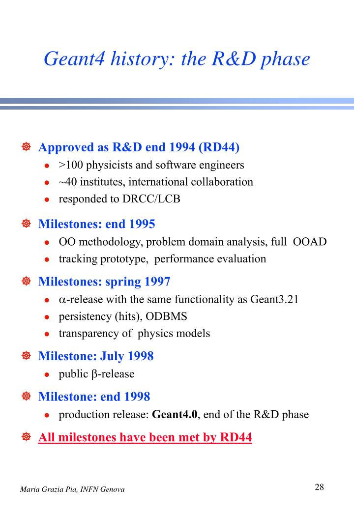 Geant4 history: the R&D phase