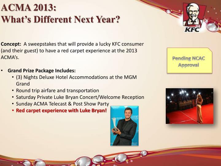 ACMA 2013:
