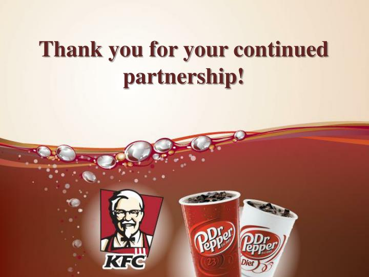 Thank you for your continued partnership!