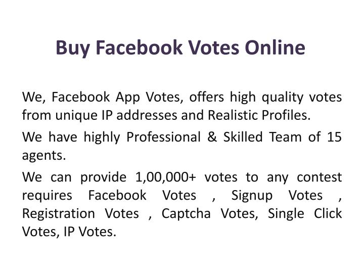 buy facebook votes online n.