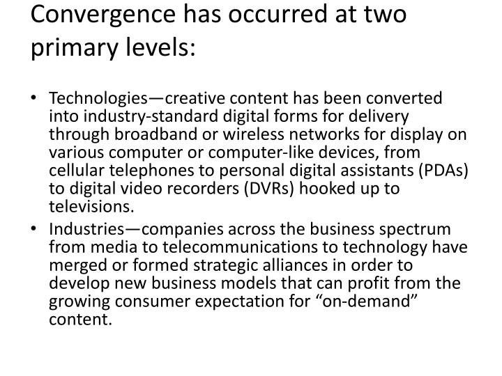 convergence in media essay Eden morrissey convergence + impacts media convergence is the merging of mass communication outlets – print, television, radio, the internet along with portable and interactive technologies through various digital media.