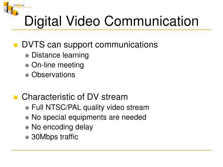 Digital video communication