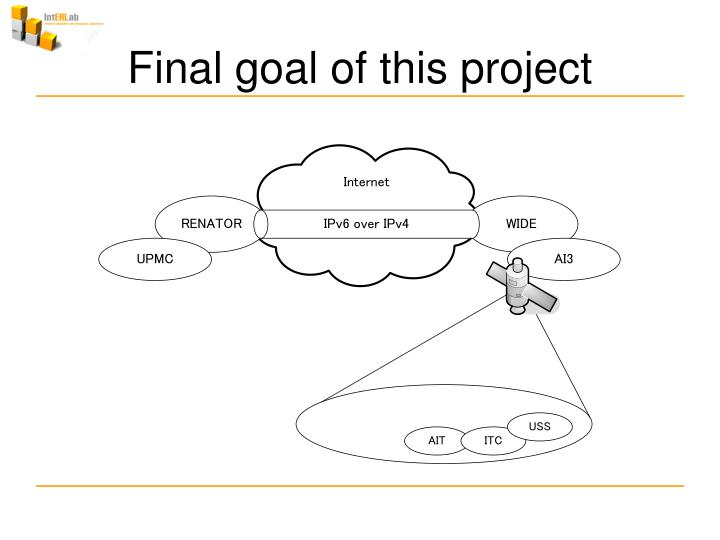 Final goal of this project