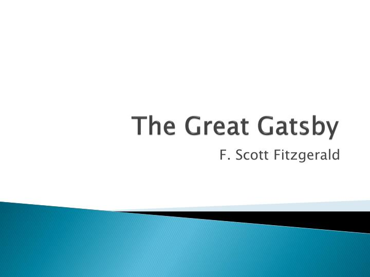 the great gatsby personality description