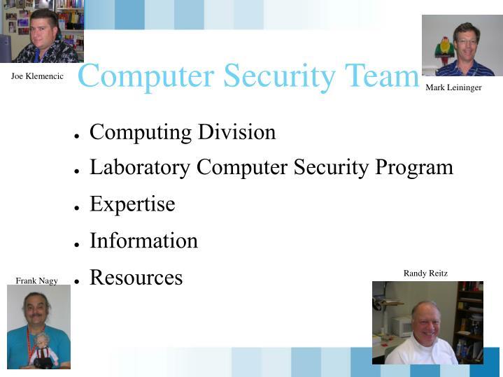 Computer security team