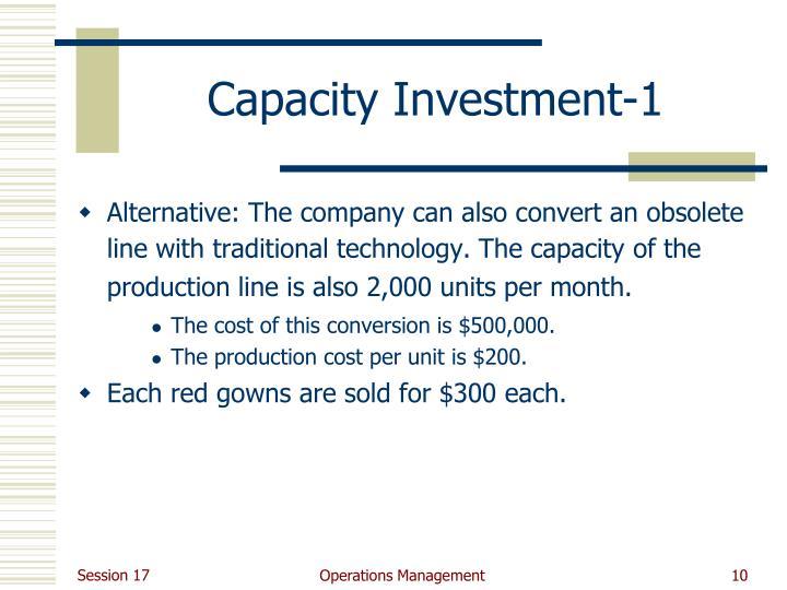 Capacity Investment-1
