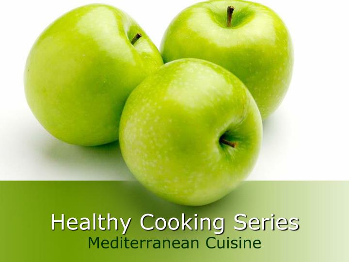 Healthy cooking series