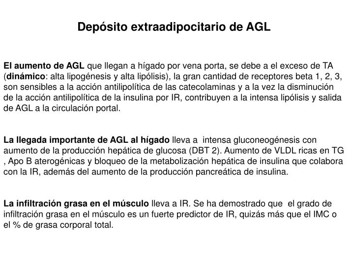 Depósito extraadipocitario de AGL