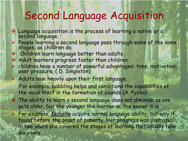 why do children learn second language faster than adults Do adults learn faster than children would an adult and a child reach the same level of fluency, given the same level of immersion and education unfortunately, we can't do a double-blind test, because adults wouldn't generally be admitted to a taiwanese junior high school.