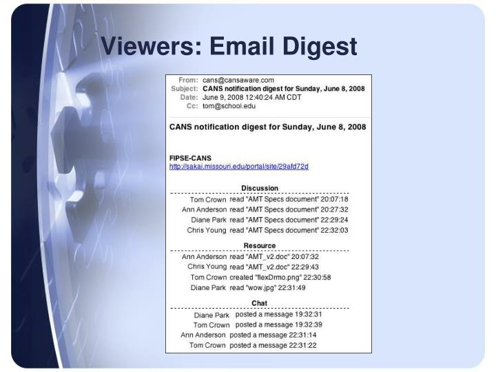 Viewers: Email Digest