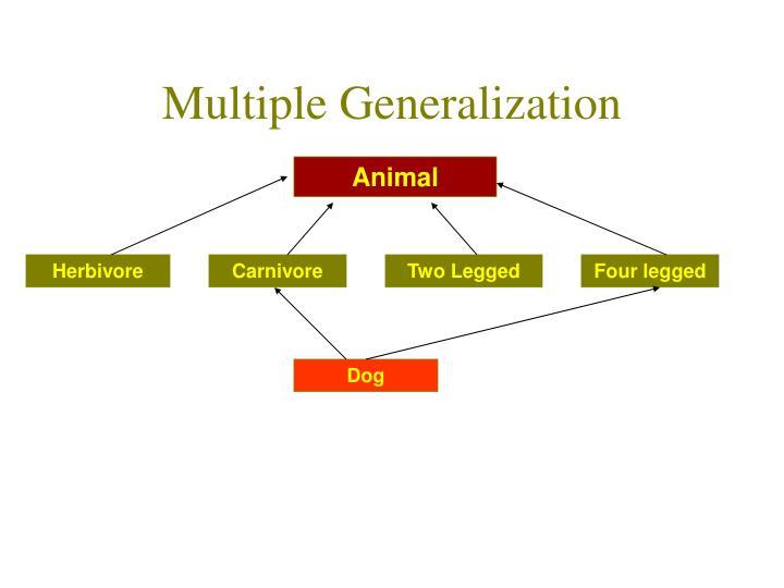 Multiple Generalization