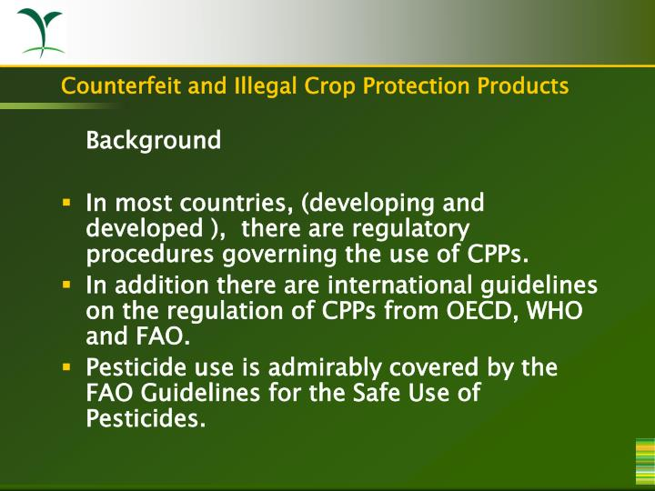 Counterfeit and illegal crop protection products2