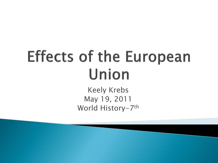 effects of the european union n.