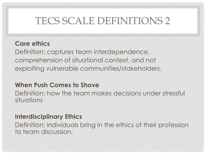 TECs scale Definitions 2