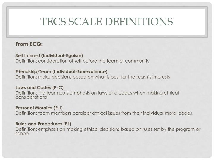 TECS Scale Definitions
