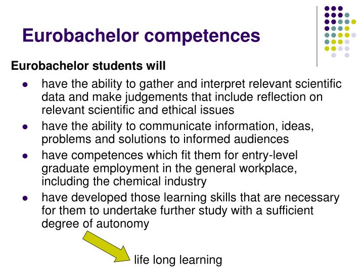 Eurobachelor competences