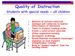 quality of instruction students with special needs all children