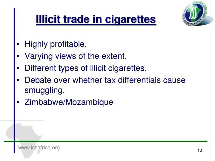 Illicit trade in cigarettes