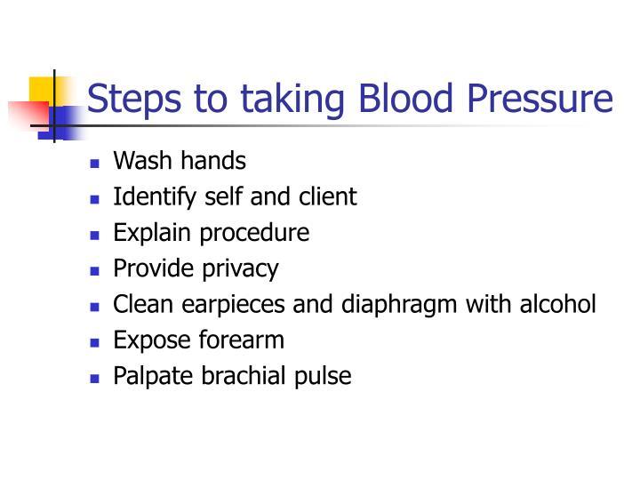 proper steps to take blood pressure