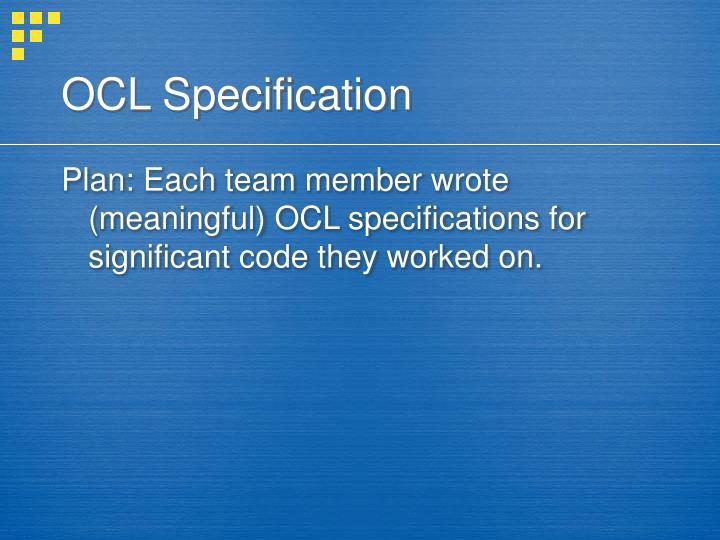 OCL Specification