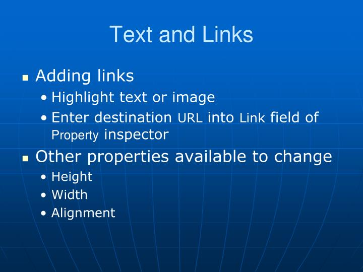 Text and Links