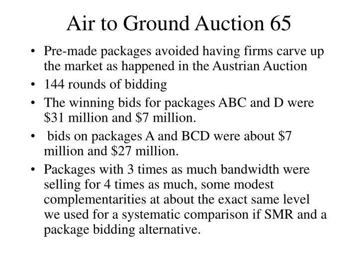 Air to Ground Auction 65