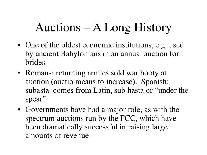 Auctions a long history