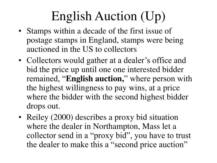 English auction up