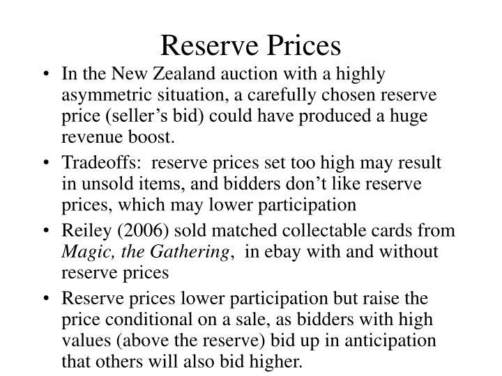 Reserve Prices
