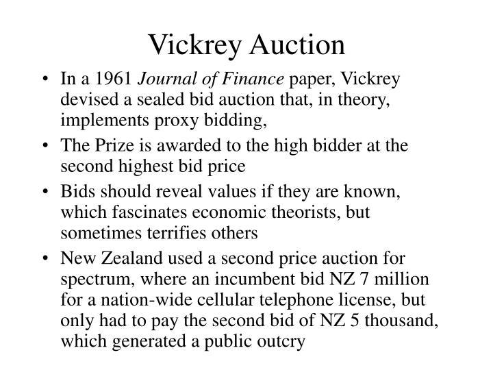 Vickrey Auction