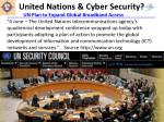 united nations cyber security