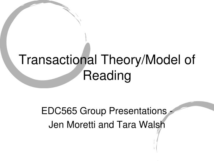 transactional theory model of reading n.