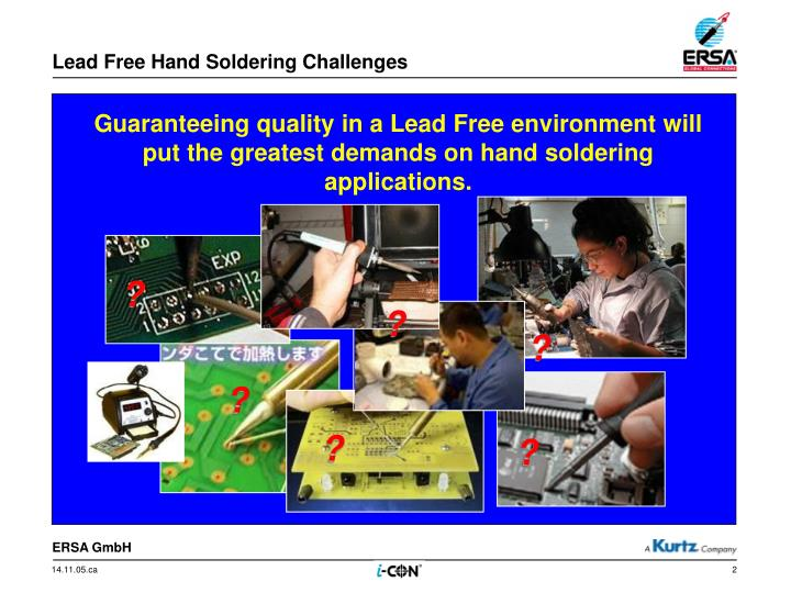 Lead free hand soldering challenges