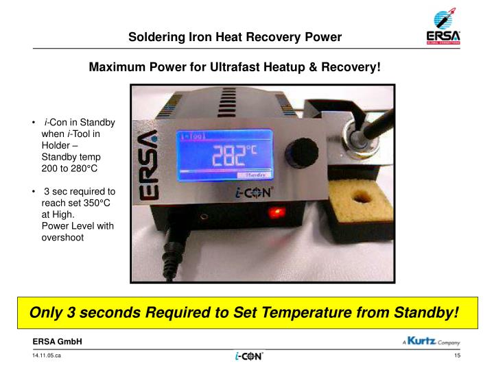 Soldering Iron Heat Recovery Power