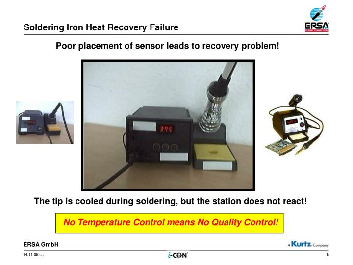 Soldering Iron Heat Recovery Failure