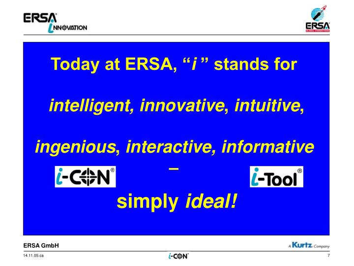 Today at ERSA, ""