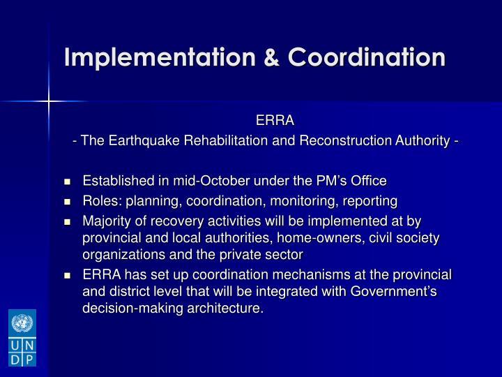 Implementation & Coordination