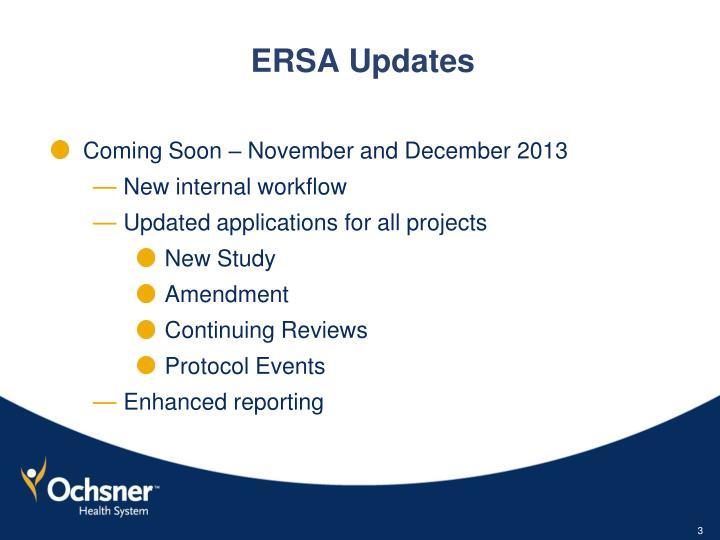 Ersa updates1
