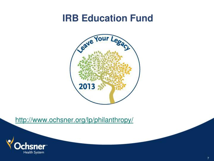 IRB Education Fund