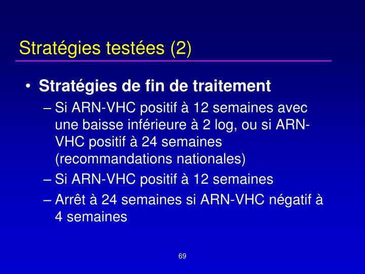 Stratégies testées (2)