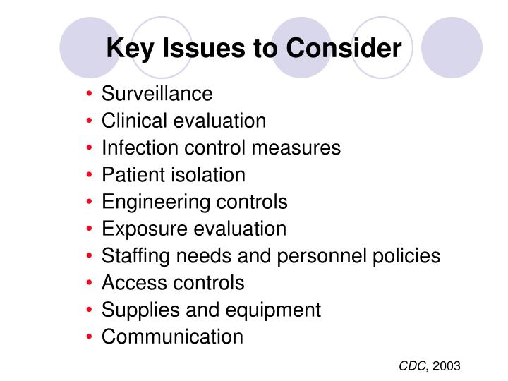 Key Issues to Consider