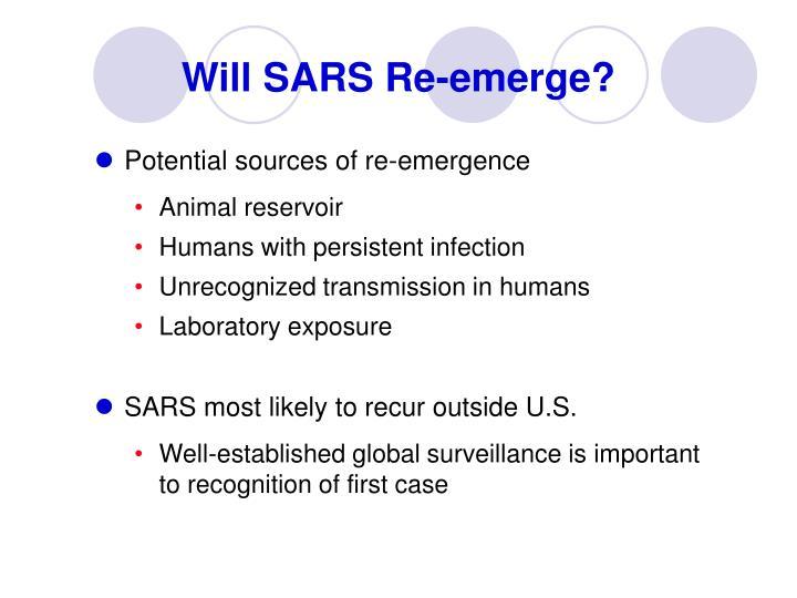 Will SARS Re-emerge?