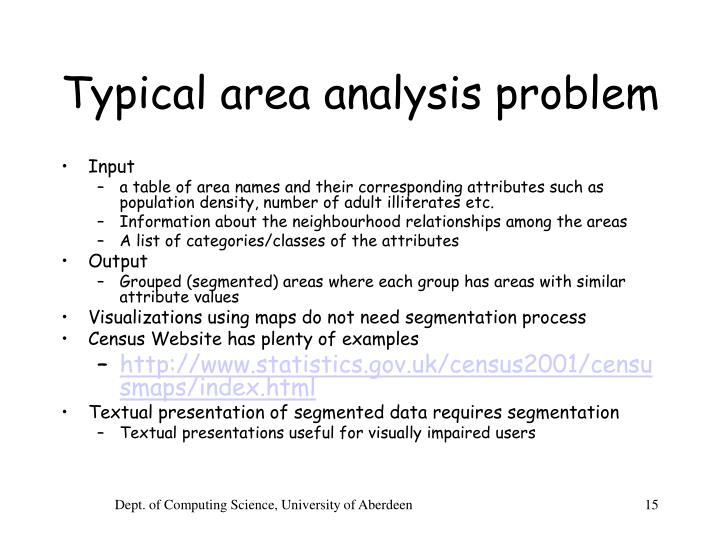 Typical area analysis problem