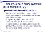 gli altri riflessi delle norme contenute nel ddl finanziaria 2 6
