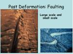 past deformation faulting