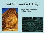 past deformation folding