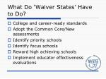 what do waiver states have to do