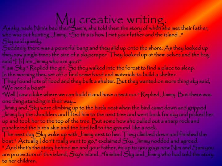 My creative writing