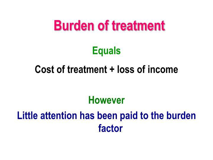 Burden of treatment